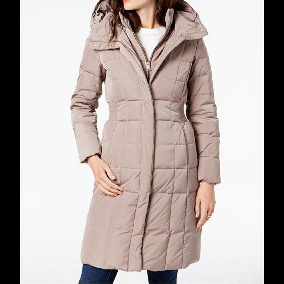 cf754a7aa Cole Haan Layered Down Puffer Coat